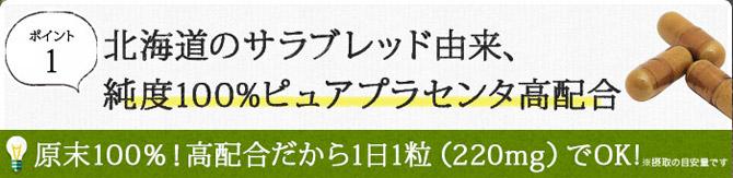 北海道のサラブレッド馬プラセンタ純度100%高配合